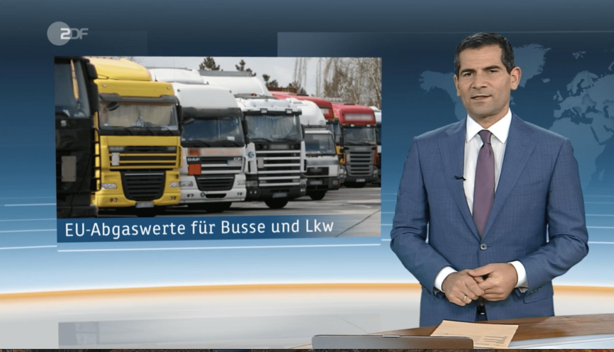 Interview Thomas Schäberle zu EU Abgaswerten für LKW ZDF-heute vom 19.02.2019