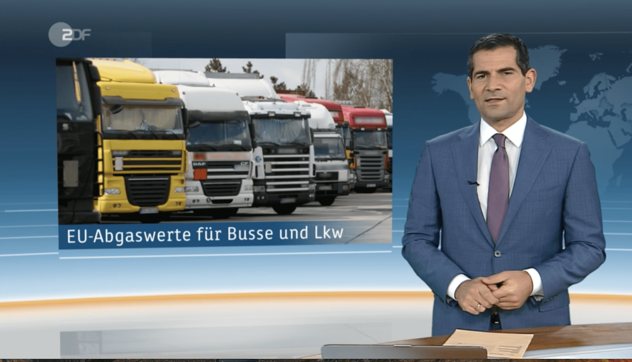 Interview Thomas Schäberle on EU emission values for trucks ZDF today 19.02.2019