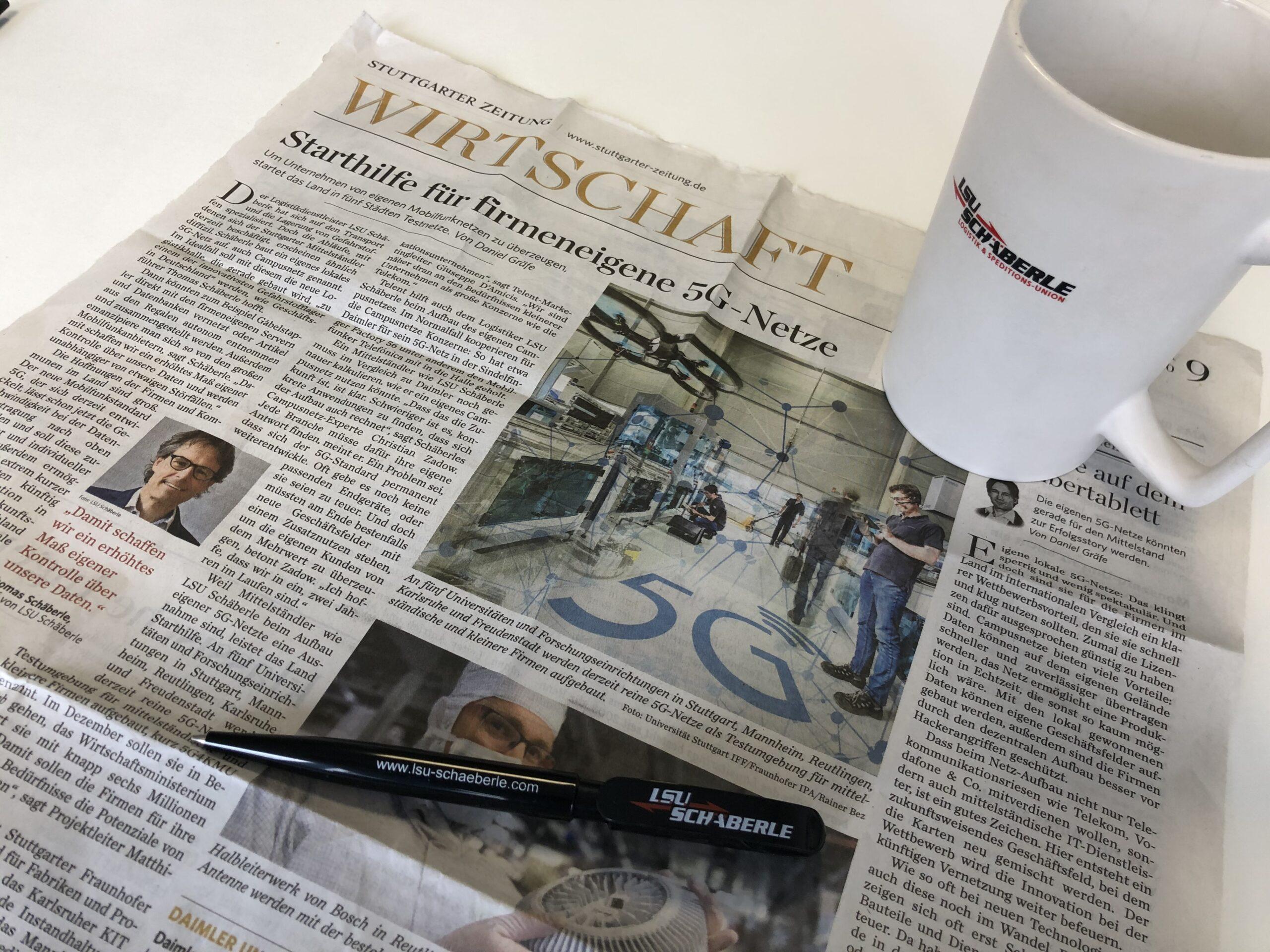 Eigene 5G-Netze für Unternehmen – Stuttgarter Zeitung berichtet über LSU